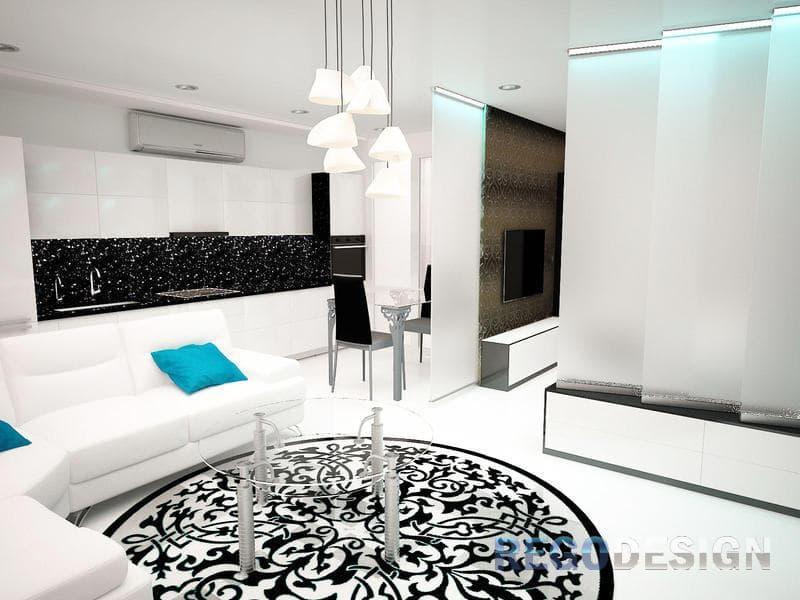 Дизайн двухкомнатной квартиры - фото современных